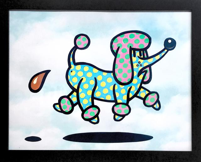 , 'Pooping Polka Dot Poodle,' 2018, La Luz de Jesus Gallery