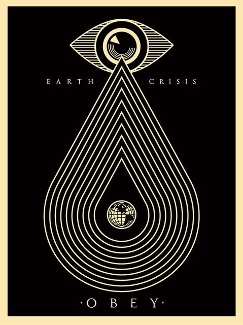 Shepard Fairey, 'Earth Crisis (Black)', 2014, Black Book Gallery