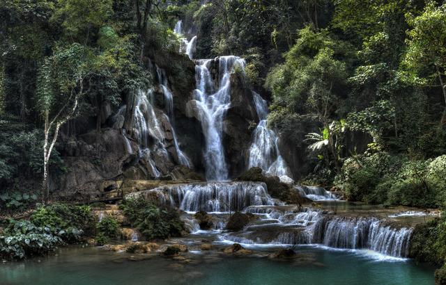 , 'Kuang Waterfall,' 2012, Lucia Mendoza