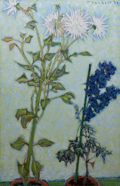 , 'White Dahlia,Blue Delphinium,2003,oc,39.3x25.5,' 2003, Winchester Galleries