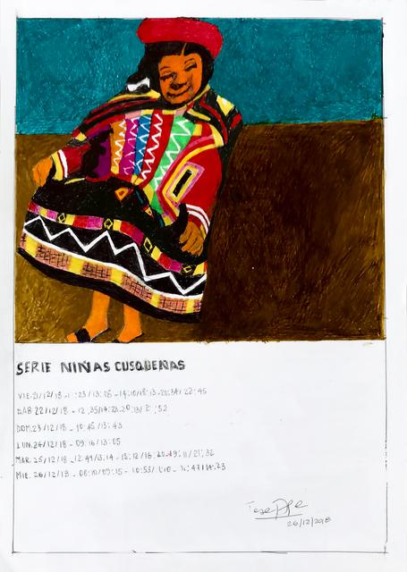 Teresa Burga, 'Serie niñas cusqueñas', 2018, 80M2 Livia Benavides