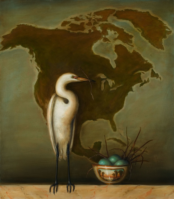 David Kroll, 'Egret and Bowl', 2005, Lisa Sette Gallery