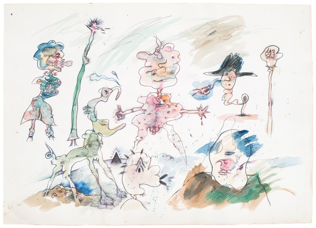 , 'Untitled (Green Character Sketch),' 1972, Hales Gallery