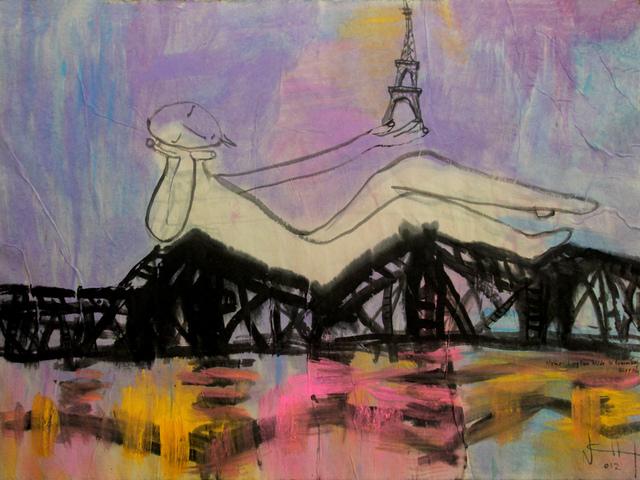 , 'On Long Bien Bridge Remembering Effeil Tower,' 2012, Art Vietnam Gallery