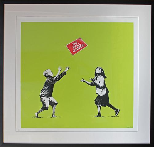 Banksy, 'No Ball Games (Green)', 2009, Vanessa Villegas Art Advisory