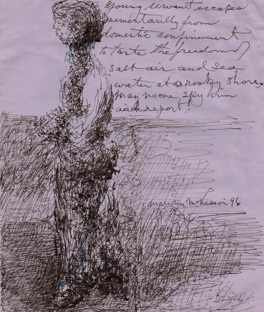 , 'untitled (Woman by Sea),' 1996, christian berst art brut