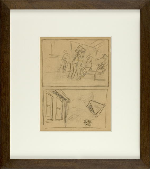 , 'Figure and House Sketch,' ca. 1900, Thurston Royce Gallery of Fine Art, LTD.
