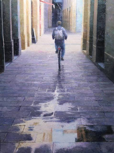 , 'Cycling city,' 2019, Anquins Galeria