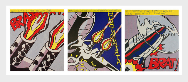 Roy Lichtenstein, 'Roy Lichtenstein As I Opened Fire set of 3 lithographic posters', ca. 2001, Lot 180