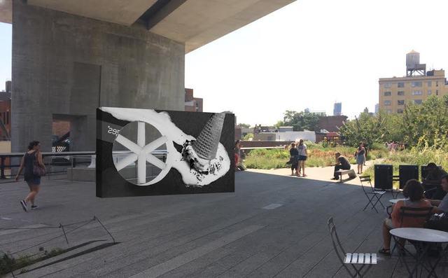 , 'Rendering of Sunbathers II,' 2016, High Line Art