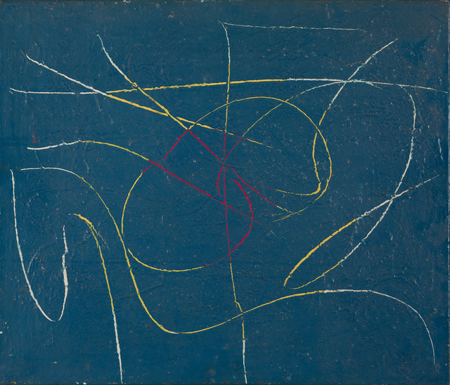 , 'Writings in Blue II,' 1955, October Gallery
