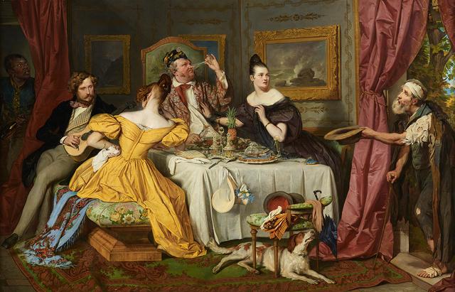 , 'Der reiche Prasser,' 1836, Belvedere Museum