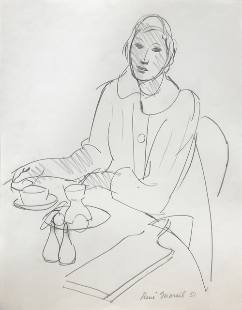 , 'Untitled: woman at table,' 1951, Nikola Rukaj Gallery