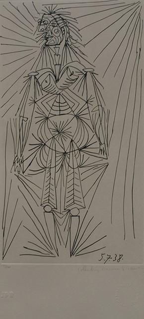 Pablo Picasso, 'Femme Debout', 1979-1982, Golden Eagle Art Gallery