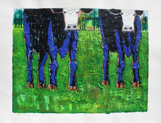 , 'Two Blue Calves,' 2018, Les Yeux du Monde Gallery