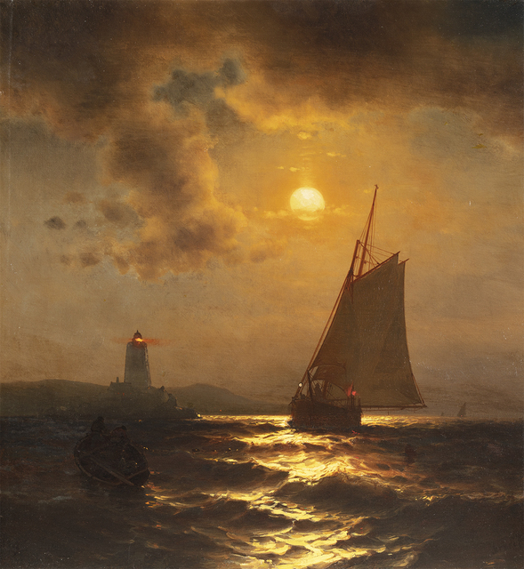 Mauritz Frederik Hendrik de Haas, 'Fishing at Moonlight ', Date Unknown, Questroyal Fine Art