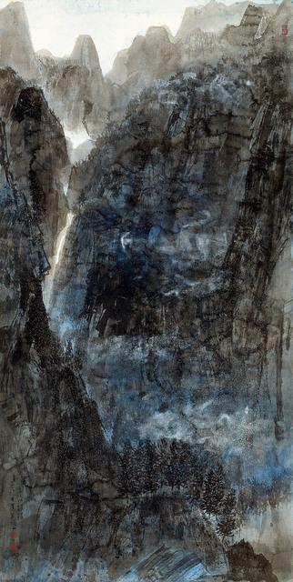 , 'Waterfall Hidden Among Cloud Veiled Hills,' 2016, M. Sutherland Fine Arts