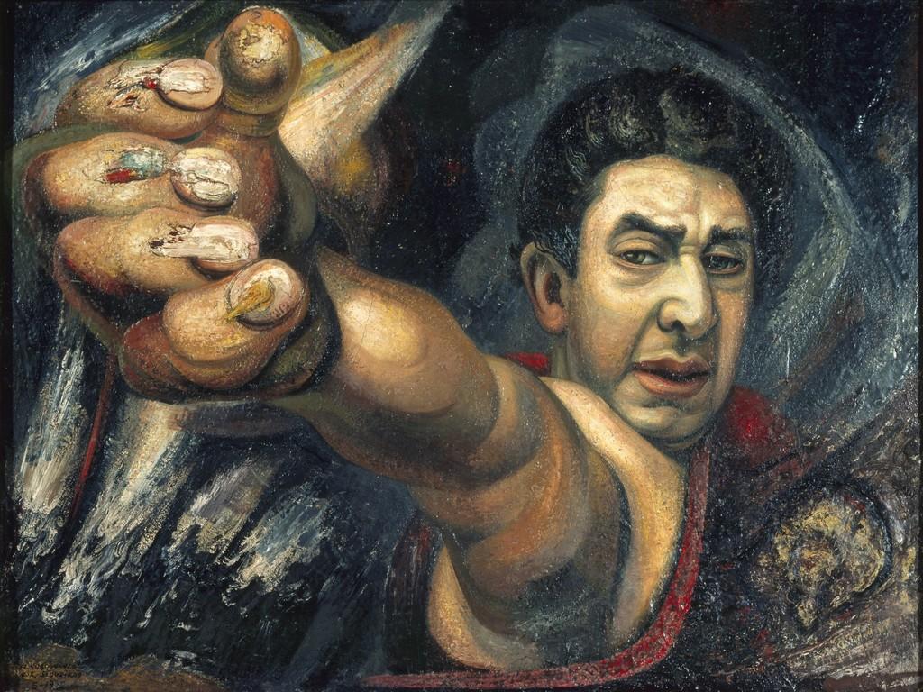 David alfaro siqueiros self portrait el coronelazo for El mural de siqueiros
