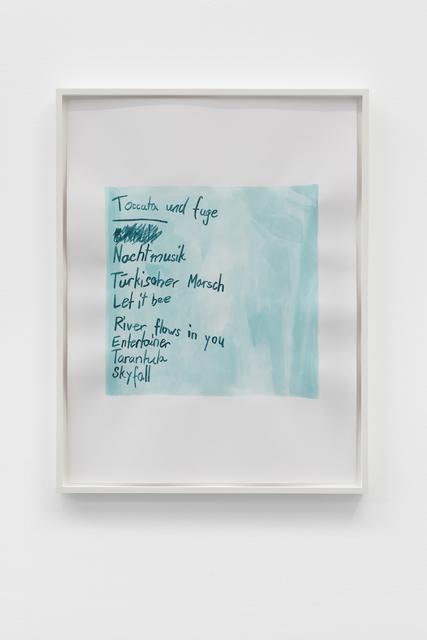 , 'Listen (Klavierkonzert),' 2018, Galerie Mehdi Chouakri