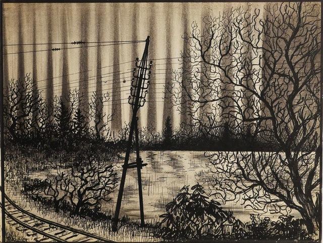 Renaldo Kuhler, 'Lights from Felsenbad Stadium Visible from RR Tracks Outside Town', 1959, Ricco/Maresca Gallery