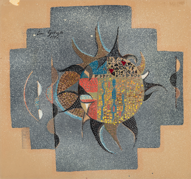 Eren Eyüboğlu, 'Design for Mosaic', 1957, Drawing, Collage or other Work on Paper, Gouache and pencil on cardboard, Grey Art Gallery