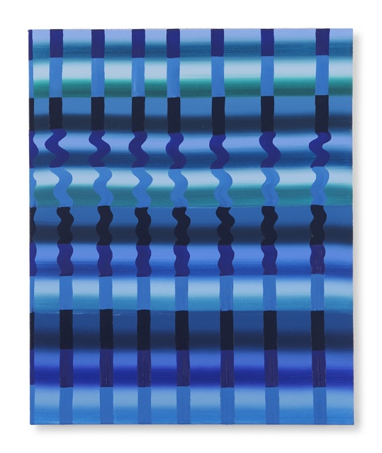, 'Untitled (Blue Grid),' 2017, DC Moore Gallery