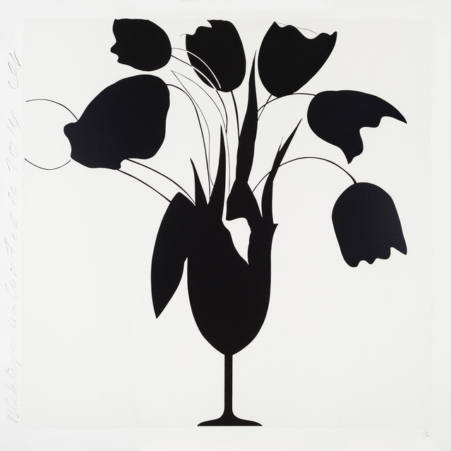 , 'Black Tulips and Vase, Feb 26,' 2014, Newzones