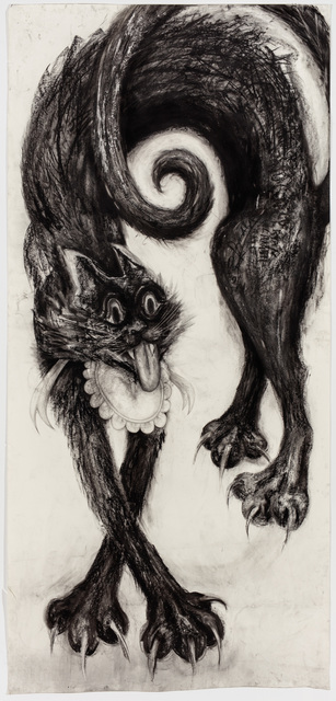 , 'Cat 2 (Black),' 2017, P.P.O.W