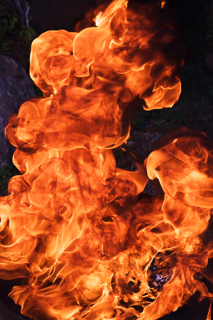 , 'Fishhooks-22, Flames,' 2015, Phosphorus & Carbon