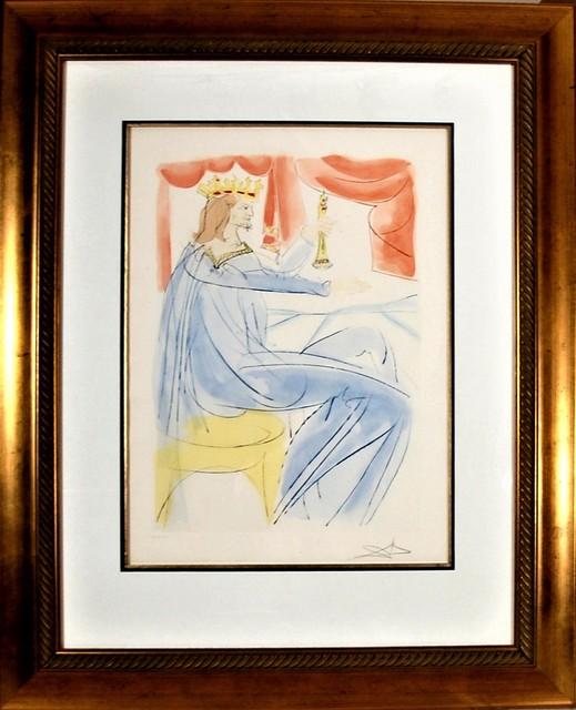 "Salvador Dalí, ' ""King Salomon"" from the suite ""Our Historical Heritage""', 1975, Joseph Grossman Fine Art Gallery"