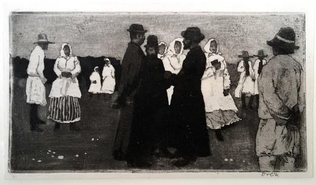 Emil Orlik, 'Market in Grodek', 1898, Harris Schrank Fine Prints