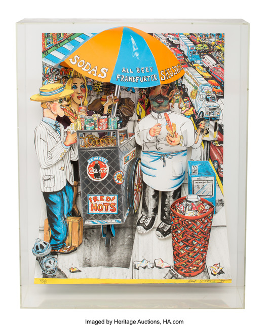 Red Grooms, 'Hot Dog Vendor', 1994, Heritage Auctions