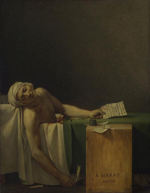Jacques-Louis David, 'Death of Marat', 1793, Art History 101