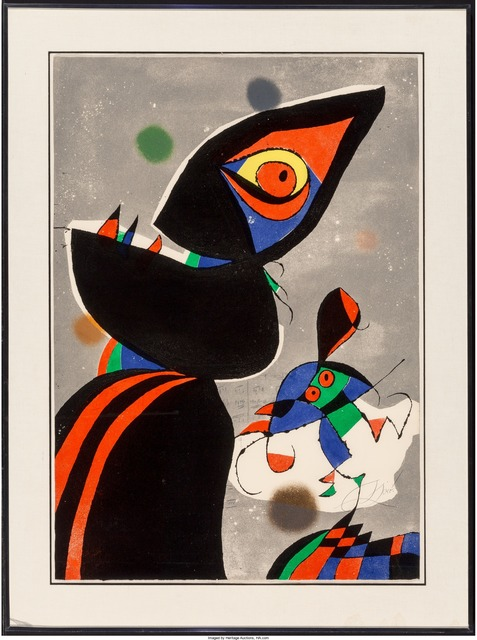 Joan Miró, 'Gaudí XVII', 1979, Print, Etching in colors, Heritage Auctions