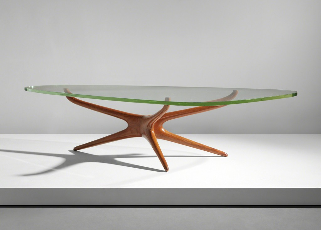 Vladimir kagan tri symmetric coffee table circa 1953 phillips