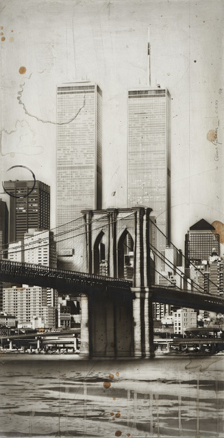 , 'New York Cityscape, 1994 mixed technique on wood 27 3/8 x 14 inches,' 1994, Forum Gallery