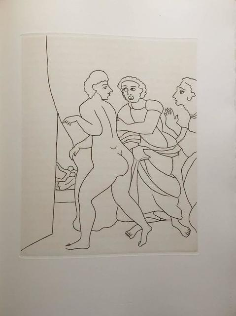 André Derain, 'Erotic Female Nude - Etching from Le Satyricon', 20th Century, Lions Gallery
