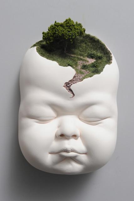Johnson Tsang, 'Pathway', 2019, Sculpture, Porcelain, model tree and grass, Beinart Gallery
