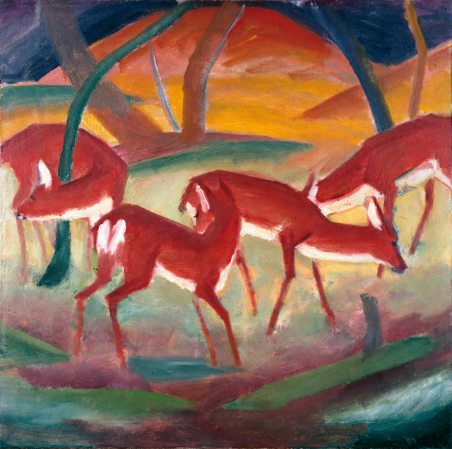 , 'RED DEER I,' 1910, Leopold Museum
