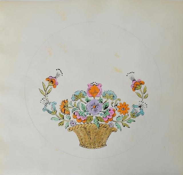 Andy Warhol, 'Untitled (Flower Basket)', ca. 1956, Long-Sharp Gallery