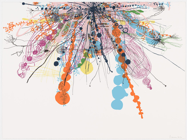 Santiago Moix, 'Rippling #34', 2012, Print, Silkscreen monotype, Pace Prints