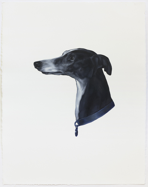 Shelley Reed, 'Dog (After Landseer)', 2020, Drawing, Collage or other Work on Paper, Oil on Arches oil paper, Sears-Peyton Gallery