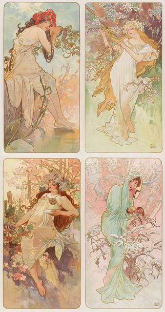 Alphonse Mucha, 'The Seasons', 1896, Christopher-Clark Fine Art