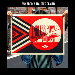 Shepard Fairey, 'Endless Power Petrol Palace Red', 2019, AYNAC Gallery