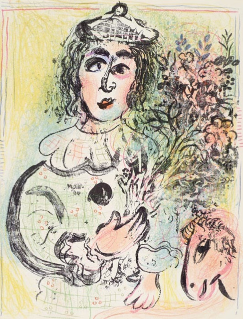 Marc Chagall, 'The Clown with Flowers', 1963, Galerie d'Orsay