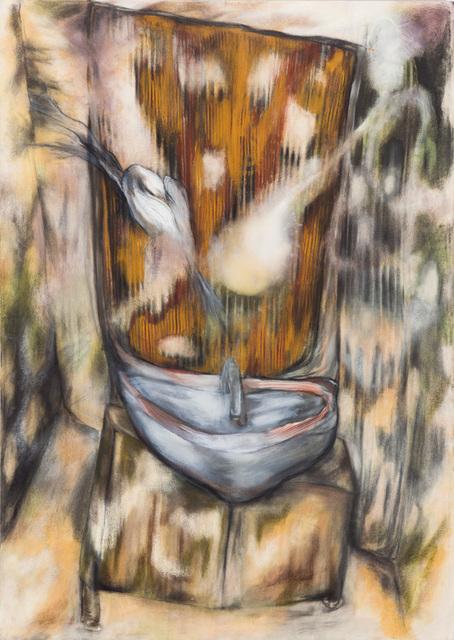 Magdalena West, 'Auf- und Abläufe', 2014, Painting, Ölfarben-,Terpentingemisch,Kohle,Wachsemulsion,Ölfarbe,Pastellkreide auf Leinwand, galerie burster