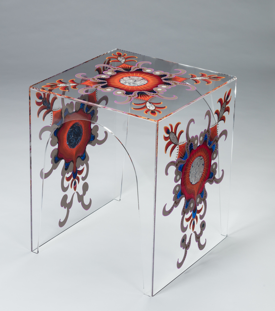Tara Austin, 'Trillium #5', 2020, Design/Decorative Art, Oil, acrylic and silver leaf on plexiglass, Joseph Nease Gallery