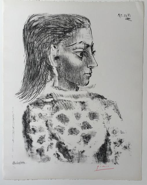 Pablo Picasso, 'Buste au Corsage à Carreaux', 1957, Print, Lithograph, Coskun Fine Art