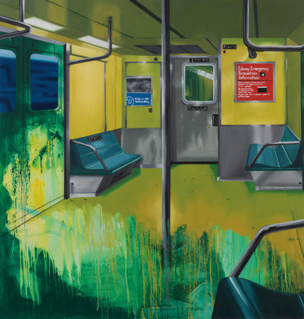 , 'Subway Interior,' 2017, P.P.O.W