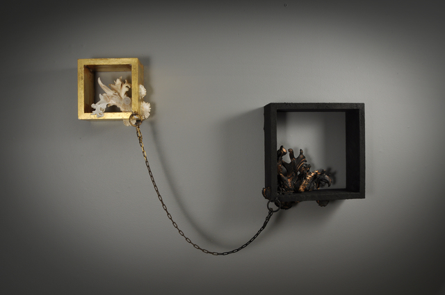 , 'Bone/Black Wall Object,' 2014, Gallery Loupe
